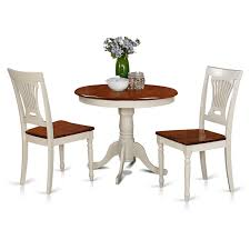Where To Buy Dining Table And Chairs Amazon Com East West Furniture Anpl3 Whi W 3 Piece Kitchen Nook
