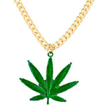 leaf chain necklace images Pot leaf marijuana 420 mary jane pendant chain necklace jpg