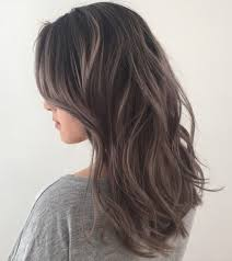 shag haircut brown hair with lavender grey streaks 40 ideas of gray and silver highlights on brown hair