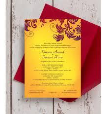 asian wedding invitation yellow burgundy indian asian wedding invitation from 1 00 each