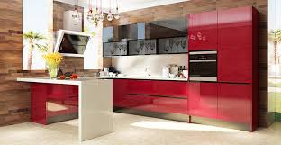 High Gloss Acrylic Kitchen Cabinets by Op15 A08 Modern Red High Gloss Acrylic Kitchen Cabinet