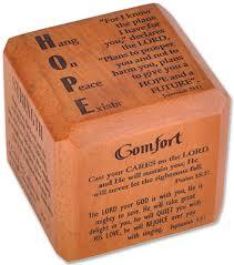 scripture gifts comfort scripture cube