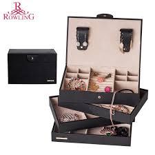 black casket large pu jewelry casket faux leather cufflinks box black jewelry