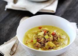 sweet and spicy turkey curry soup thanksgiving leftovers