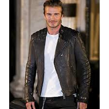 buy biker jacket david beckham leather jacket black leather motorcycle jacket