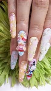 hello kitty nail art designs nailed it pinterest hello