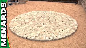 do it yourself paver patio circular patio kit how to menards youtube