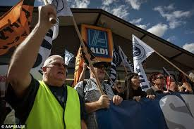 siege social aldi aldi truck drivers to strike claims of hours daily mail
