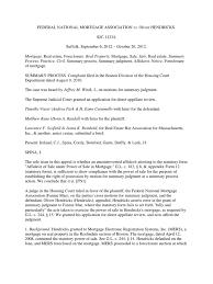 fnma v hendricks foreclosure summary judgment