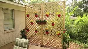 create a privacy wall with lattice and decorative plants youtube