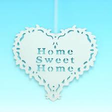 hanger ivory home sweet home heart hanger gifts ideas for him