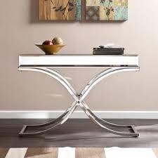 Zipcode Design Console Table Chrome Console U0026 Sofa Tables You U0027ll Love Wayfair