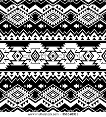 black and white color tribal navajo seamless pattern aztec fancy