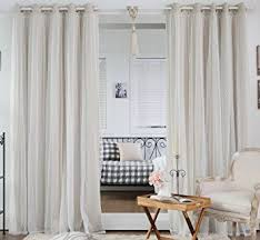Insulated Curtains Amazon Amazon Com Best Home Fashion Dotted Lace Overlay Thermal