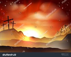dramatic christian easter concept jesus two stock vector 253706623