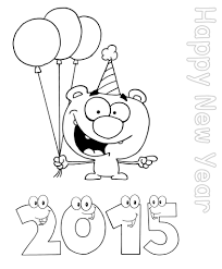 happy new year worksheets for kindergarten coloring pages for