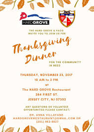 thanksgiving dinner for the community in need paco