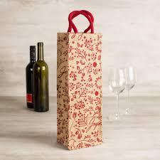 harman christmas single u0027sketch u0027 jute wine bottle bag red