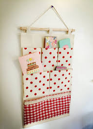 Hanging Organizer Wall Or Door Fabric Pocket Hanging Organizer By Evilbestie On Etsy