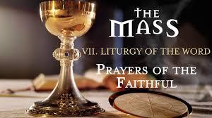 the mass vii liturgy of the word prayers of the faithful