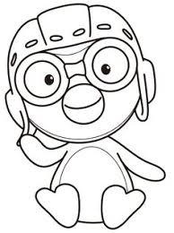 buku belajar mewarnai gambar kartun pororo penguin kecil e57