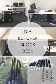 best 25 butcher block desk ideas on pinterest ikea desk top diy butcher block desk build an l shaped desk with pipe fittings and some