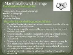 Challenge Directions Marshmallow Challenge Directions Pdf Powerpoint Ppt