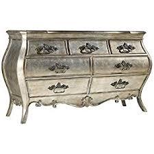 Silver Nightstand Ls Sanctuary 7 Drawer Dresser In Silver Kitchen