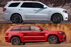 jeep grand cherokee srt red styling size up dodge durango srt vs jeep grand cherokee