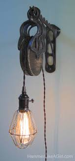 Pulley Pendant Light Diy Pendant Light With Pulley Archives Hammer Like A Girlhammer