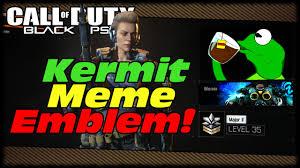Meme Custom - kermit sipping tea meme custom black ops 3 emblem call of duty