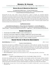 Resume Template For Manager Position Sample Resume For Marketing Executive Position