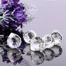 5pcs lot 20mm faceted glass crystal chandelier parts pendant prisms lighting ball clear suncatcher wedding