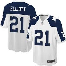 nike cowboys 21 ezekiel elliott white thanksgiving s stitched