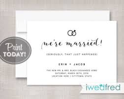 elopement invitations elope announcement etsy