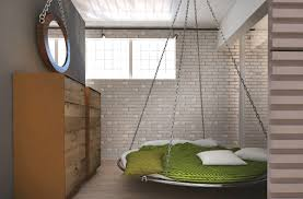 Loft Bed Hanging From Ceiling by These Lofts Are Up In The Clouds With Their White Designs
