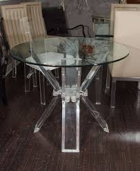 lucite table base with glass top at 1stdibs lucite table base with glass top 2