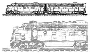 sketch retro train on a white background vector illustration
