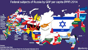 Map Russia Map Comparing Russian Federal Subjects Gdp U0026 Grp Per Capita To