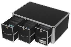 stackable media case 3 drawer cd