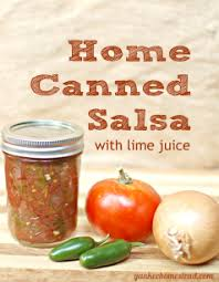 home canned salsa with lime juice yankee homestead