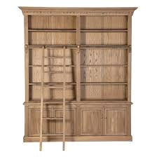 limed oak bookcase with ladder malvern collection