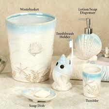 Seashell Bath Rug Seashell Bathroom Set Ideas Coastal Collection Bathroom