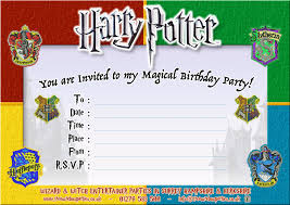 free printable harry potter birthday party invitation childrens