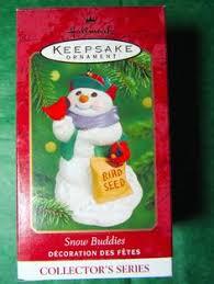 2002 hallmark ornament snow buddies with brown 5 in series