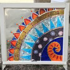 painting on glass windows individual instruction to create mosaic window