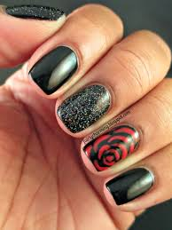 nail art for beginners easy red rose nails roses nail design 2