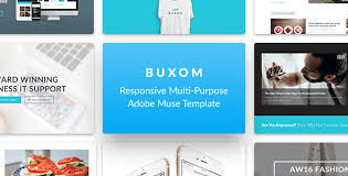 buxom responsive multi purpose muse template free nulled themes