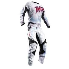 customized motocross jerseys thor 2017 fuse air lit jersey pants package white red