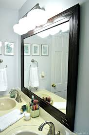 Framing Bathroom Mirror With Molding How To Frame Mirror In Bathroom With Moulding Image Bathroom 2017
